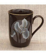 Vintage Otagiri IRIS Coffee Mug Brown w/ Gold Accent Japan Cup Silver Wh... - $11.99