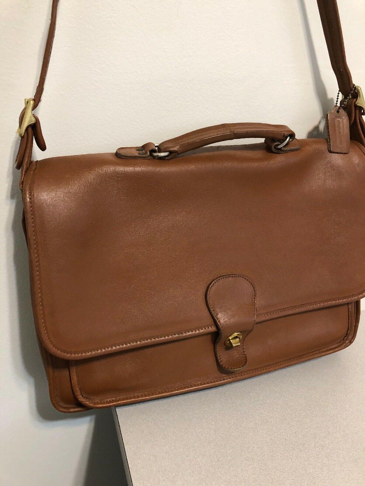 Vintage COACH L6C- 5180 Metropolitan Leather Messenger Attache Tan image 2