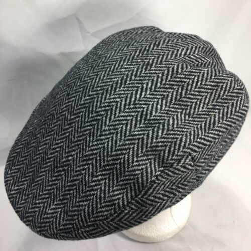 DORMAN PACIFIC DPC Gatsby Newsboy Cabbie Hat Cap Herringbone Wool Blend Medium image 3