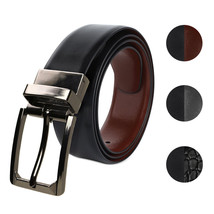 Berlioni Italy Men's 28mm Premium Reversible Cut To Size Leather Dress Belt