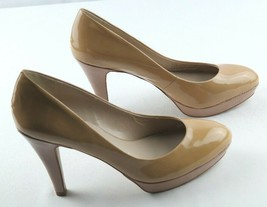 Franco Sarto Artisan Collection Omaha Pumps Womens Sz 8.5 Tan Patent Shoes - $25.20