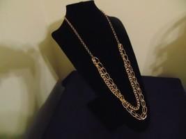 """Macys 35"""" w3"""" ext Gold tone double drop chain  Necklace M623 - $14.39"""