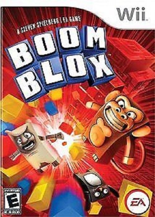 Steven Spielberg's Boom Blox Wii Game Rated E Easy Fun Group Family Game Night