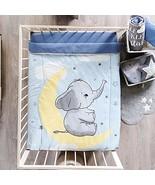 Baby Elephant Bedding Crib Nursery Set Boy Blue Moon for Baby Shower Mat... - $94.00