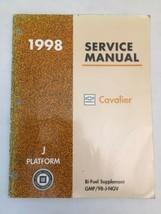 1998 Chevy Cavalier Genuine Service Manual - Bi-Fuel Supplement- Platform J - $14.15