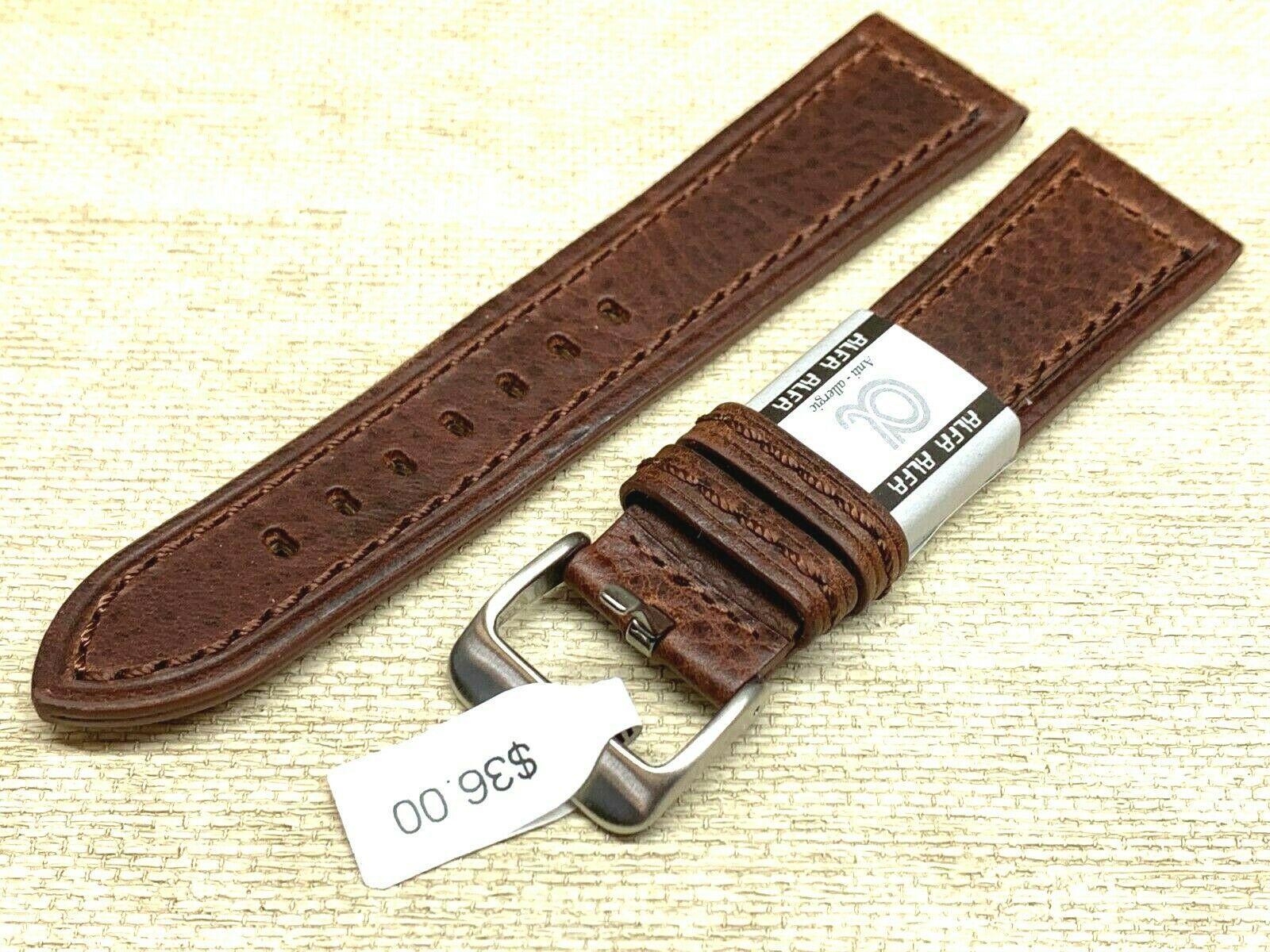 Alfa euro genuine leather watch band 22mm Premium calf  fits hamilton too
