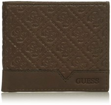 Guess by Marciano Men's Leather Billfold Zipper Coin Pocket Wallet 31GU130027 image 2