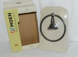 Moen DN6886ORB Sage Collection Towel Ring Oil Rubbed Bronze image 2