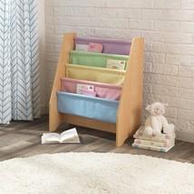 Kidkraft 14225 Kids Pastel Sling Canvas Bookcase Book Shelf NEW - $53.95