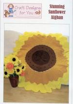 "Stunning Sunflower Afghan 62"" Diameter Crochet PATTERN/INSTRUCTIONS/NEW - $3.12"