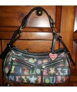 Dooney & Bourke Black Doodle Bag Purse Great Bag - $33.25