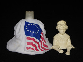 Avon Betsy Ross Figurine Topaze Cologne 4 Fl. Oz Avon Commemorative Figu... - $2.99