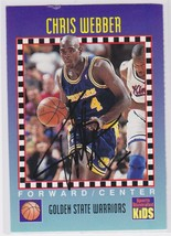 Chris Webber Signed Autographes SI For Kids Basketball Card - Golden Sta... - $14.99