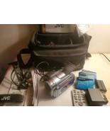 JVC GR-D90U Digital Video Camera Mini DV w/ Charger, Battery Wires, Bag, Tapes - $113.84