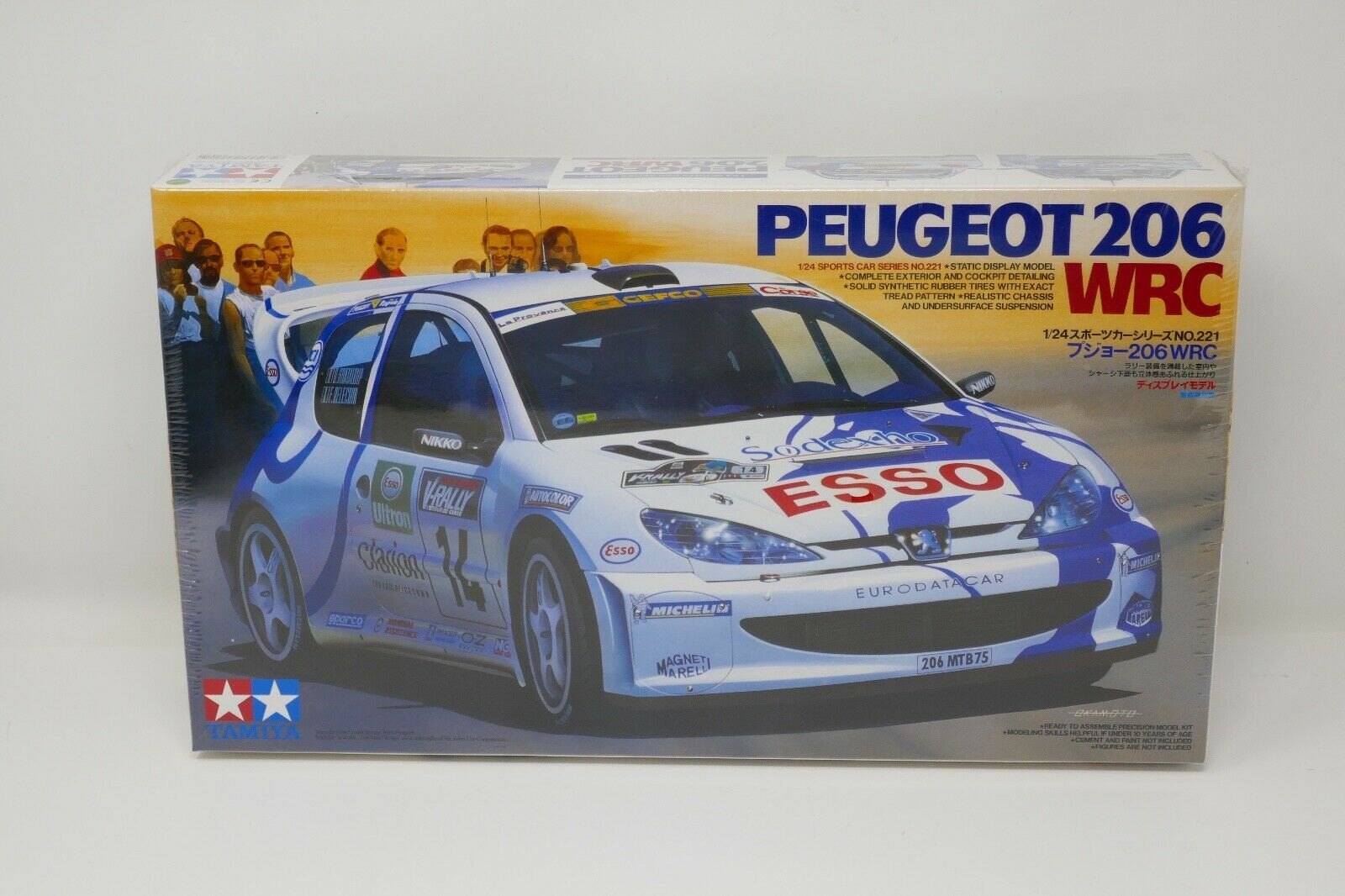 Primary image for Tamiya Esso Peugeot 206 WRC '99 Tour 1:24 Scale Model Car Kit SEALED