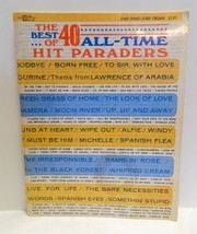 The Best of 40 All Time Hit Paraders Song Book Softcover Easy Piano Organ - $4.99