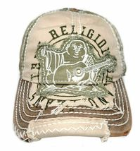 True Religion Men's Premium Vintage Distressed Buddha Trucker Hat Cap TR1101 image 6