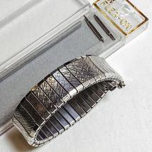 Vintage Mens Silver FLEX-ON Stretch Watch Band - $10.00