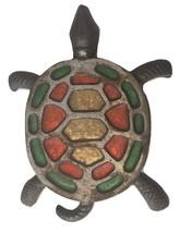 VTG Vintage Case Iron Stained Glass Turtle Nautical Trivet Pot Holder Ho... - $24.99