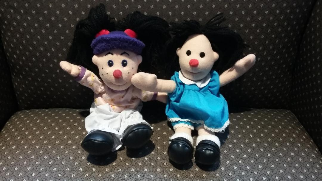 Vintage The Big Comfy Couch Molly Loonette Clown Rag Mini Plush Toy Doll Set Lot