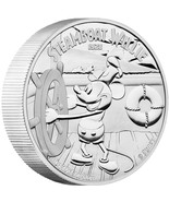2015 $100 Disney Steamboat Willie Mickey Mouse 1 Kilo Silver Proof Coin ... - $1,698.96