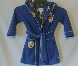 Nick & Nora Child's Sock Monkey Bath Robe Size 3T Blue Moon Belted Hooded - $19.99