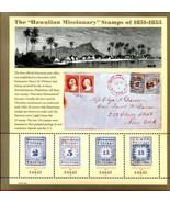 2002 37c Hawaiian Missionary, Sheet of 4 Scott 3694 Mint F/VF NH - $4.44