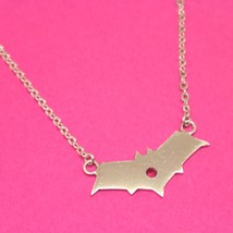 Handmade 925 Sterling Silver Red Hood Bat Necklace Choker - $42.00+