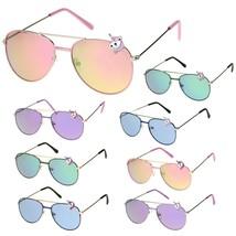 Kids Size Unicorn Badge Color Mirror Lens Pilots Sunglasses - $9.95
