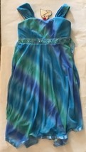 Speechless Sheer Matte Sleeveless Front Knit Dress, Aqua/Blue/Green Size 14 - $12.59