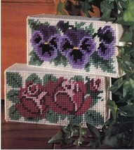 Doorstop Blossoms Rose, Pansy Plastic Canvas PATTERN/INSTRUCTIONS/NEW - $0.90
