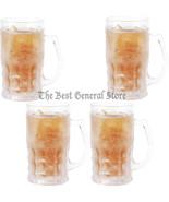 Set of 4 14oz Freezable Beer Mug Bar BPA Free Freezer Ice Cold Beverage ... - $36.89