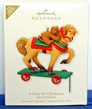 2010 Hallmark Ornament A Pony For Christmas Limited Edition Repaint Colo... - $16.90