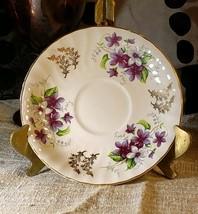 H. Ansley Fine Bone China Saucer Staffordshire England Violets Treasure ... - $9.66