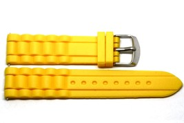 20MM Yellow Silicone Jelly Rubber Sport Watch Band Fits Fossil Riley - $9.89