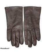 Brown Genuine Leather Gloves Womens Thinsulate Lining Cold Weather Driving - $19.99