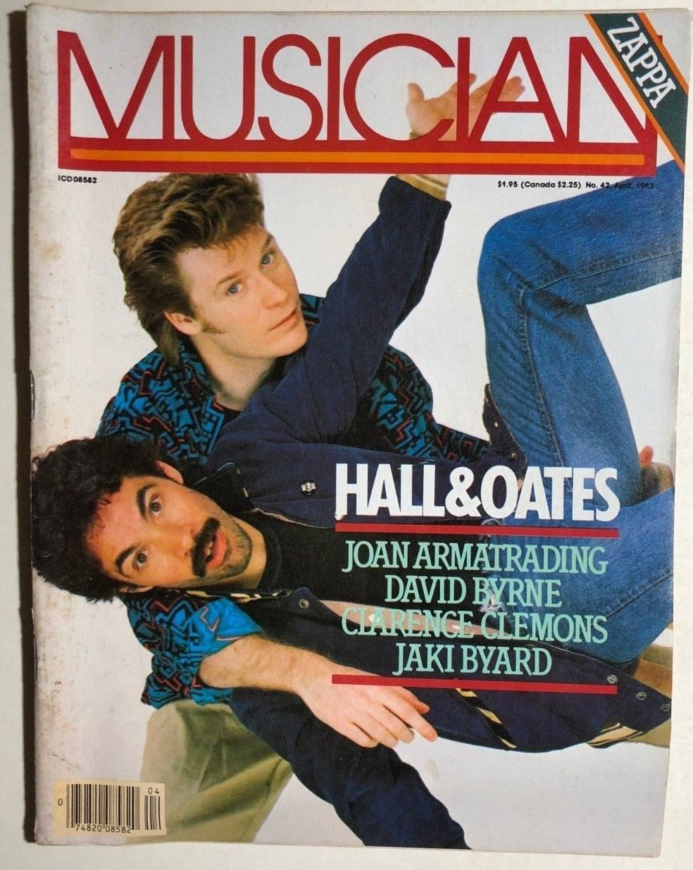 Primary image for MUSICIAN Magazine #42 April 1982 Hall & Oates, Frank Zappa