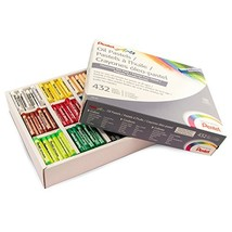 Pentel Arts Oil Pastels, 432 Piece Classroom Size Pack (PHN-12CP), Assorted - $29.99