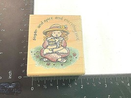 Sugar and Spice and Everything Nice Cute Girl Rubber Stamp Karen Foster K5252  - $4.99
