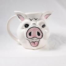 Pig Hog Head Cup Mug Pale Pink Farm Animal Ceramic - $17.00