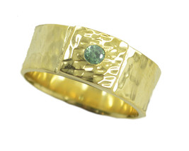 gorgeous peridot CZ Gold Plated Green Ring supply US 6,7,8,9 - €8,45 EUR