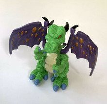 Imaginext Green Dragon With Purple Wings 4 3/4 inches #0038 - $14.84