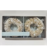 Bella Lux Coastal Nautical Beach Wreath Christmas Ornaments Set of 2 - $19.99