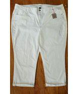 LANE BRYANT Genius Fit Crop Jeans Pants White Size 28 Plus New - $18.32