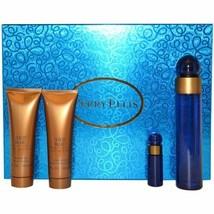 360 Blue Perry Ellis Women 4 Pcs Set 3.4 EDP + Mini + Body Lotion + Shower Gel - $69.99