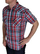 Levi's Men's Classic Cotton Casual Button Up Shirt Multi Red 3LYSW2462 image 3