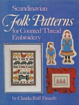 """Hard Covered Book - """"Scandinavian Folk Patterns"""" - Finseth - Gently Used - $18.00"""