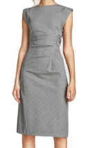Zara Rare Check Dress With Draped Details Xl Bnwt BLACK/ White Bloggers Fave