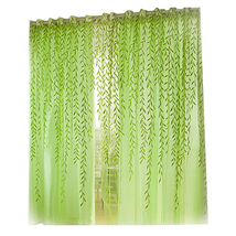 (green)4 Colors Pastoral Style Willow Floral Print Tulle Curtains for Be... - $18.00