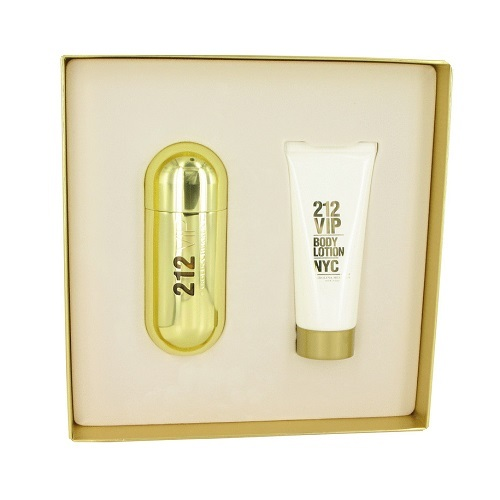 Carolina Herrera 212 VIP 2.7 Oz EDP Spray + 3.4 Oz Body Lotion 2 Pcs Gift Set